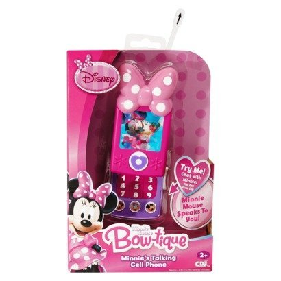 Talking Cell Phone Toy - Minnie Bow-tique Talking Cell Phone