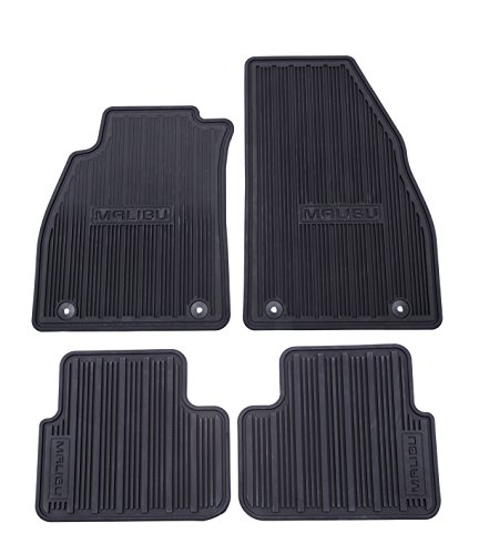 Front Gm Mat - GM Accessories 22906996 Front and Rear All-Weather Floor Mats in Black with Deep Rib