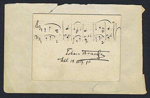 Strauss II, Johann. (1825?1899): Kaiser-Walzer - Autograph Musical Quotation Walzer Johann Strauss
