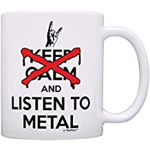 Heavy Metal Music Gifts Don't Keep Calm and Listen to Metal Gift Coffee Mug Tea Cup White