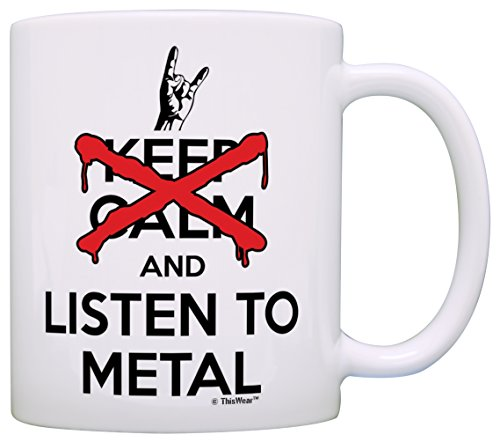 Heavy Metal Music Gifts Don't Keep Calm and Listen to Meta