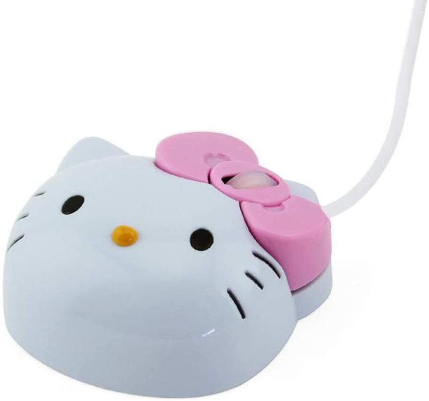 5PCS Mouse Mini Cartoon cat Wired Mouse USB 2.4 GHz Cable Cute Cartoon ABS Material