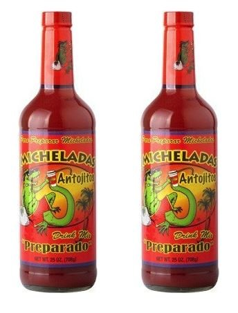 Michelada Antojitos Preparado Mix 25oz for Beer, Bloody Mary and Cocktails - Ready To Use (Pack of 2)
