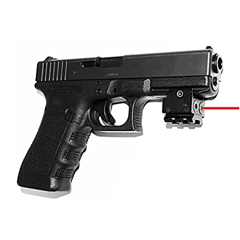 Lanboo Mini Red Dot Laser Sight, Adjustable Compact with Detachable Picatinny 20mm Rail for Pistol Air-gun Rifle Hunting (Ar 15 Mini Red Dot)