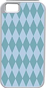 iPhone 4 Case iPhone 4S Case Cases Customized Gifts Cover Diamond Pattern Design Violet-Blue and Light Blue - Ideal Gift