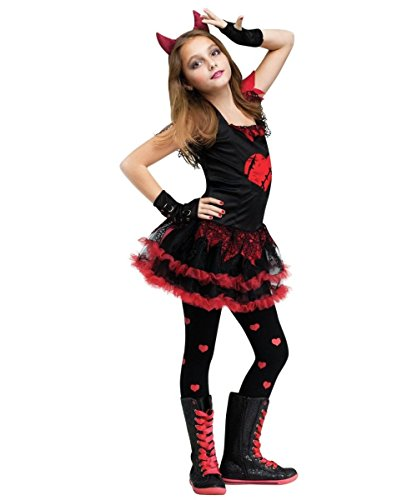 [Devil Diva Girls Costume] (Devil Costume For Girls)