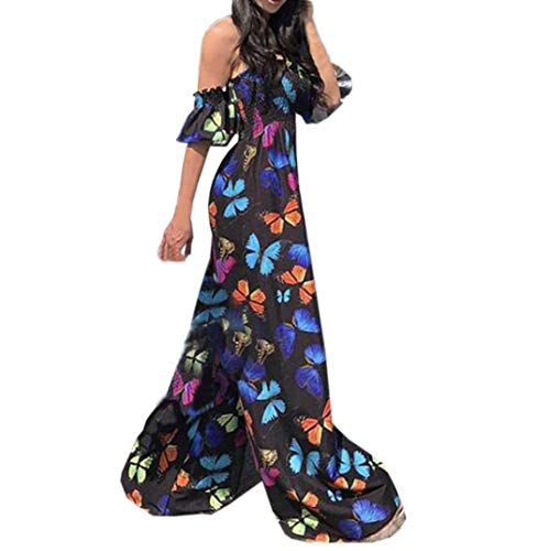 Butterfly Clubwear Jumpsuit for Women Sexy Playsuit Off The Shoulder Party Black