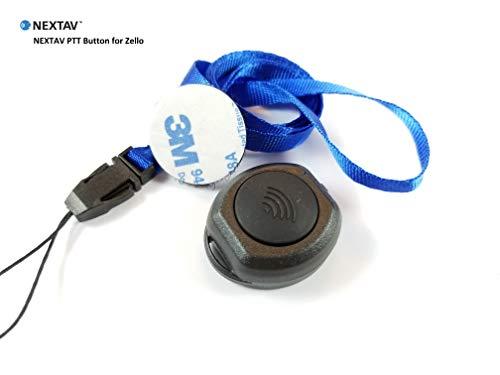 (NEXTAV U1-Z Bluetooth 4.0 Wireless PTT Button for iPhone/iPad iOS ZELLO App)