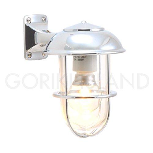 照明 エクステリアライト LED仕様 クロームシルバー(銀色)BR5000 CR LE B019GR8XKG 23004 BR5000 銀色塗装クリアガラス BR5000 銀色塗装クリアガラス