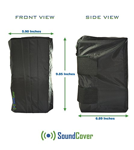 (Sun / Dust / Water Protection Covers for Outdoor Speakers - TWO Outdoor Speaker Covers Bags for Yamaha NS-AW194 and Polk Audio Atrium 4 by SoundCover® )