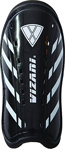 Vizari Attiva Slip In Shin Guard, Black/White, - Jnr Junior