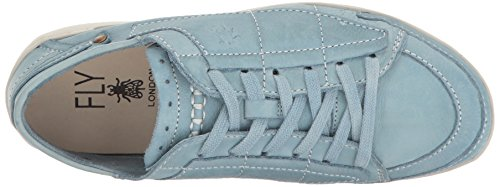 Vlieg Londen Dames Teti240fly Mode Sneaker Pastel Blauw Geverfd Leer