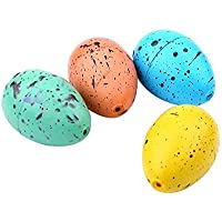 Fdit 60 Unidades Juguete de Huevo Pequeño de Dinosaurio Juguetes para Incubar Agua Huevo de Incubación Crecimiento de…