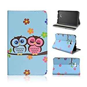 SOL Blooms Background Birds Pattern PU Leather Full Body Case with Stand for Samsung Galaxy Tab 3 Lite T110