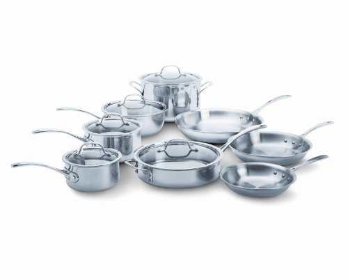 - Calphalon Tri-Ply Stainless Steel 13-Piece Cookware Set