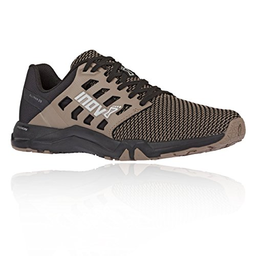 Inov-8 Mens All Train 215 Knit | Lightweight Cross Training Athletic Shoe | for Versatile Training | Great Support When Weight Lifting and Power Lifting |Black/Brown M15/ W16.5