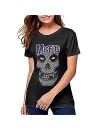 DonMMason Misfits Cotton Womens T Shirts Stylish Women Tshirts Black