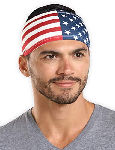 Full Slip Accessory - Mens Headband - Guys Sweatband & Sports Headband for Running, Working Out and Dominating Your Competition - Ultimate Performance Stretch & Moisture Wicking