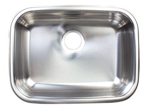 (Kindred FSUG800-18BX Single-Bowl Under Mount Kitchen Sink, Stainless Steel)