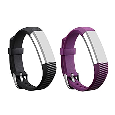 I-SMILE Newest Replacement Wristband With Secure Clasps for Fitbit Alta Only(No tracker, Replacement Bands Only)
