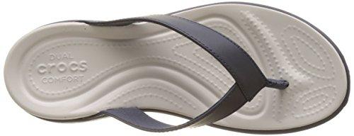 Crocs Mujeres Capri V Flip Navy / Pearl White