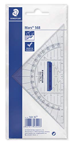 - Staedtler 568 36 16cm Mars Geometry Set Square with Grip