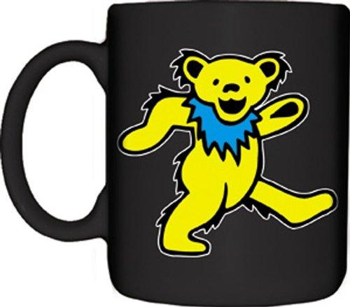 Yellow Dancing Bear (Mugs Grateful Dead Yellow Dancing Bear Designed Mug, 12-Ounce, Black)