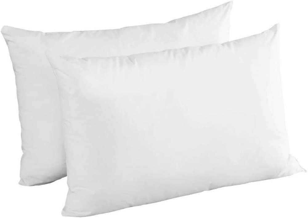 Luxury Bounce Back Pillow Pair Optimum Quality Hollow Fiber Pillows