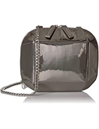 Tiffni Geometric Hard Shell Chain Strap Crossbody Bag