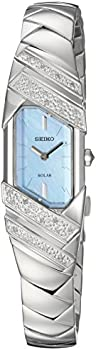 Seiko Womens Tressia Solar Silvertone Watch