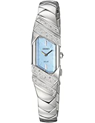 Seiko Womens TRESSIA Quartz Stainless Steel Casual Watch, Color:Silver-Toned (Model: SUP331)