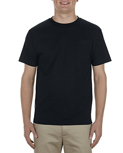 Alstyle Apparel AAA Men's Classic Pocket T-Shirt, Black, X-Large from Alstyle Apparel
