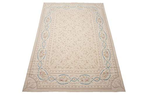 (Manhattan Oriental Rugs Fine 10X14 Aubusson Weave Area Rug 260 KPSI Handmade Wool Carpet (10 x)