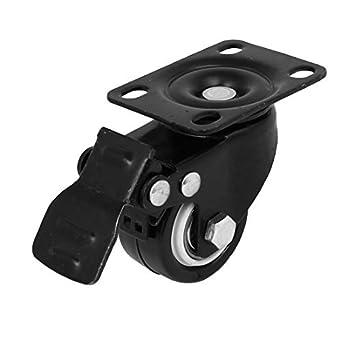 eDealMax 1,5 pulgadas Dia de goma rodillo Superior placa giratoria de las ruedas giratorias
