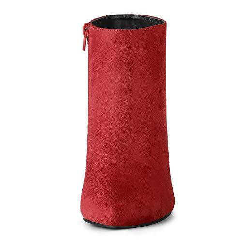 Women's Stiletto K Ankle Heel Red Pointed Toe Allegra Booties 45wqRSw