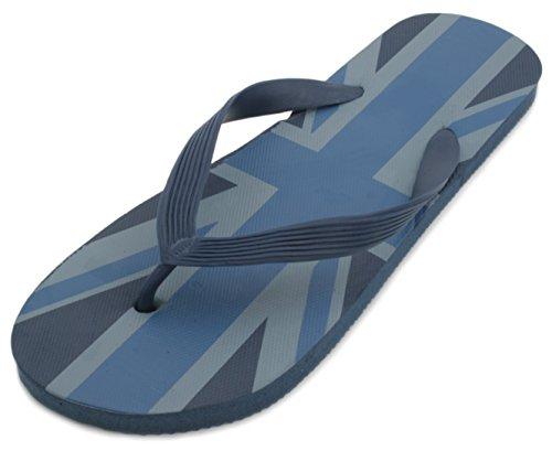 Flip Flops den für Flagge Jack mit Sommerschuhe von Herren für Blau Strand Sandrocks Union pgwqxpFU