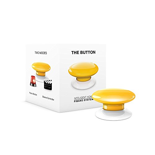 Fibaro FGPB-101-4 US The Button, Z-Wave Scene Controller,...