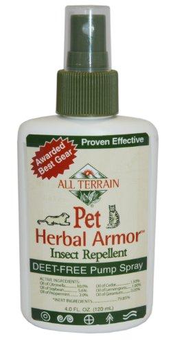 Tous les terrains naturels pour animaux de compagnie Armor à base de plantes Spray insectifuge