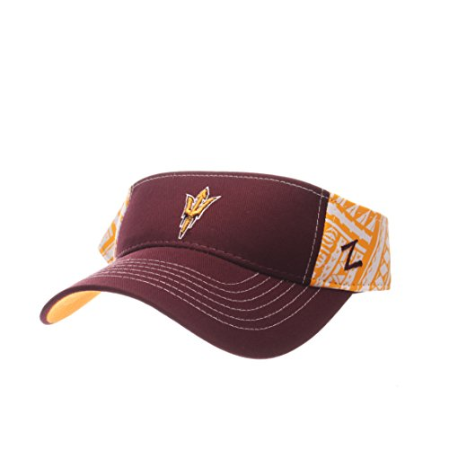 Zephyr NCAA Arizona State Sun Devils Adult Men's Hanauma Visor, Adjustable Size, Team Color ()