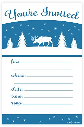 Winter Deer Holiday Invitations Envelopes product image