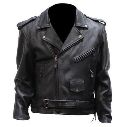 Amazon.com  Big Mens Full Belt Leather Motorcycle Jacket (Size 5XL ... 0b82e0e3ce01