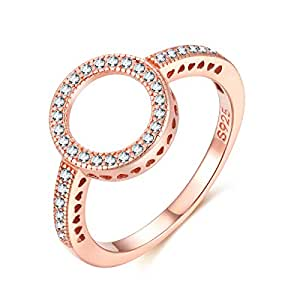 Rose Gold Plated Fashion Jewelry Ring Prefect Gift for Women and Girls all agesThe Perfect Gift for Mothers and Ladies 8 US