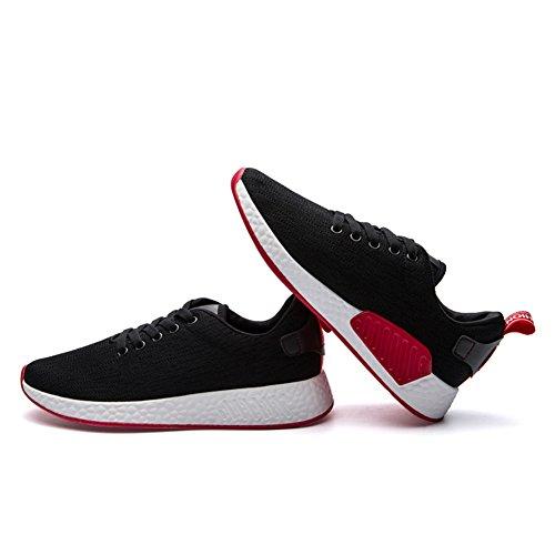 Bomkin Uomo E Donna Moda Casual Sneakers Traspiranti Scarpe Da Ginnastica Sportive Nere