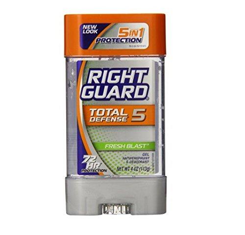 Guardia derecho defensa Total poder desodorante antitranspirante Gel fresco Blast 4 onzas (paquete de 6)