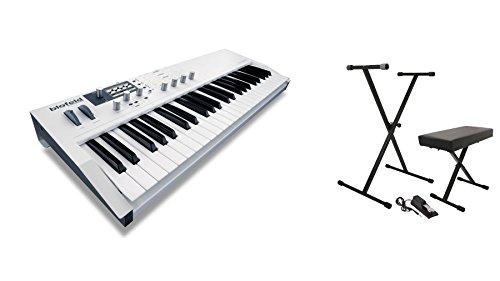 Waldorf White Blofeld Keyboard w/ On-Stage KPK6550 Keyboard Pack Bundle