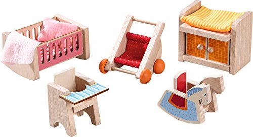 HABA Little Friends Children's Nursery Room - Dollhouse Furniture for 4