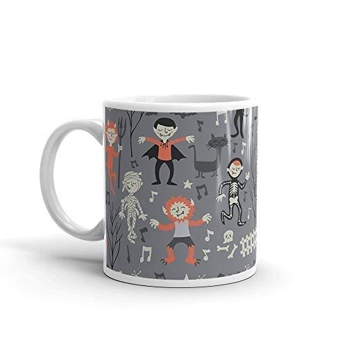 (Vintage love shack monster halloween party Mug 11 Oz White)