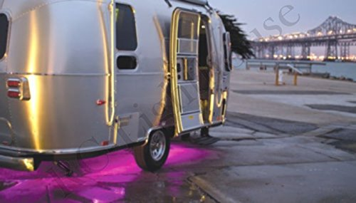 RV Recreational Vehicle Awning LED Light Strip RGB Multi Colored with 44 Key IR Remote and Power Source (4 Foot Length) by RC Lighthouse (Image #2)