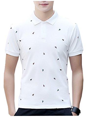 夏 ポロシャツ( ポケット無) 半袖 通気性 薄手 吸汗 カジュアル スリム メンズ 春夏秋夏季対応ト トップス ボタンSH02