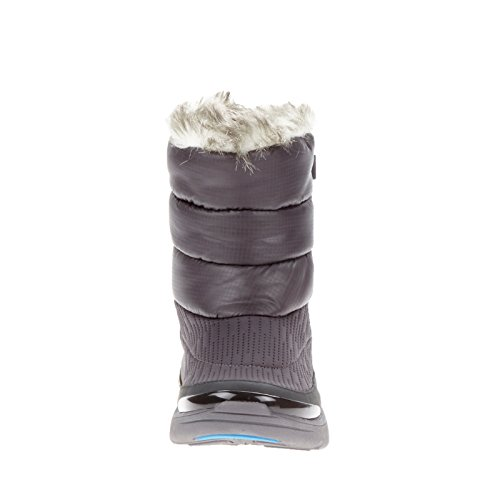 Bzees By Naturalizer Luscious Granite Mesh / Nylon Puffer / Eco-pelliccia